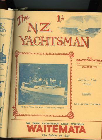 Lady Margaret NZ Yachtman Vol 3 1936 p.1
