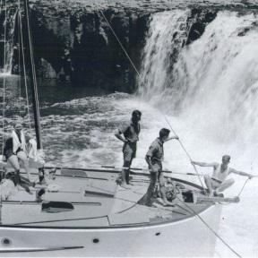 Photo 4 - Alcestis nosing into the falls