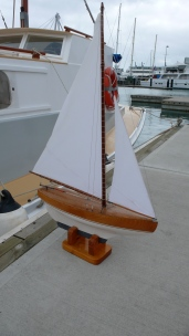 Baden's restored pond yacht