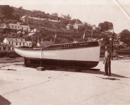 Dad's fishing boat Polaris on quay in Looe FY417