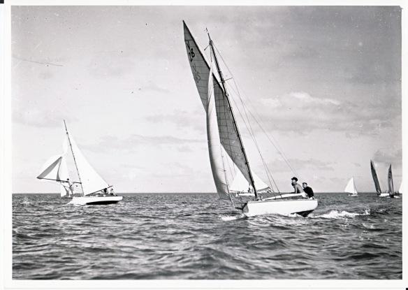 Scamp Sailing on the Manukau - April 1946