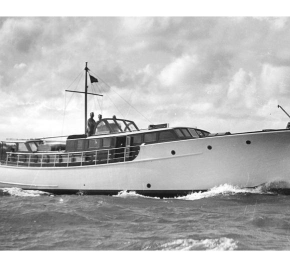 Te Rauparaha, sea trials off Browns Bay