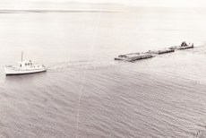 Lady-Kay and 3 wooden Barges