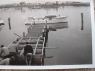 TIROMOANA IN MODERN LIVERY AT COGAN PROPERTY JETTY LATER 1960s