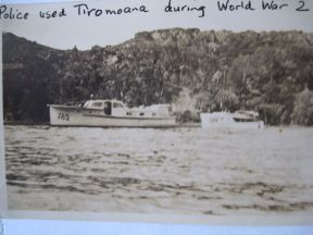 TIROMOANA IN POLICE GREY 1943 - HERY ALLAN HAD JUST HAD HER RETURNED