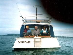 Arohanui fishing off Waiheke