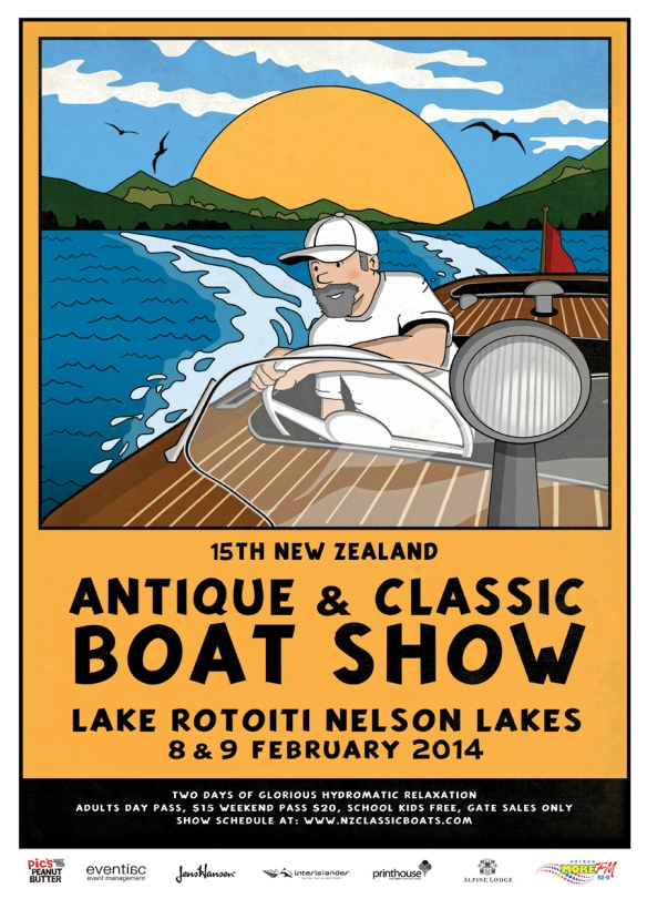 NZ Antique & Classic Boatshow 2014 - Lake Rotoiti, Sth. Island