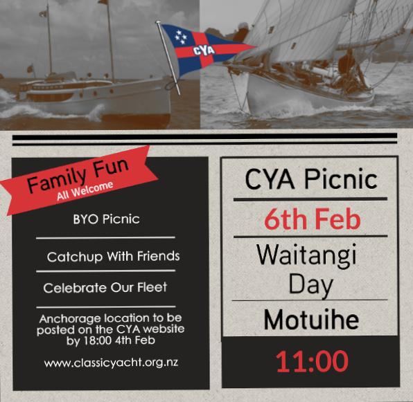 Waitangi Day CYA Picnic @ Motuihe Island