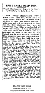 New York Times 8th Aug 1915