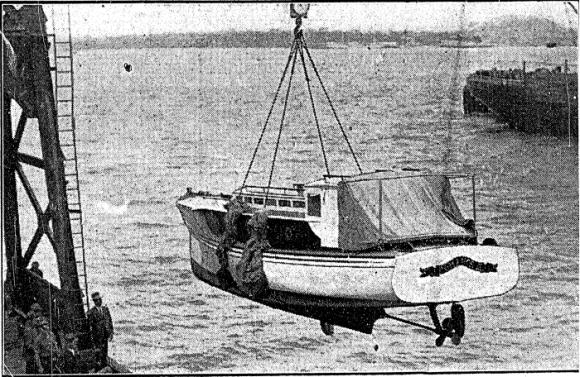 R2 relaunch Nov 1929 at Queens Wharf