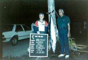 Bob Hawke and Ratu Sir Kamisese Mara with Wahoo caught in Fiji