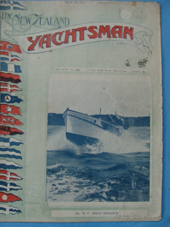 The NZ Yachtsman May 19, 1917. Front Cover