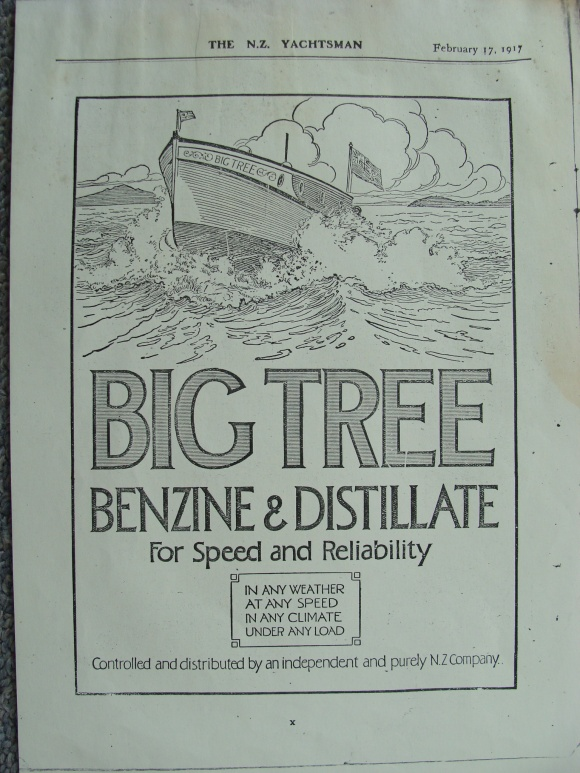 The NZ Yachtsman May 19, 1917. Back Cover ad.