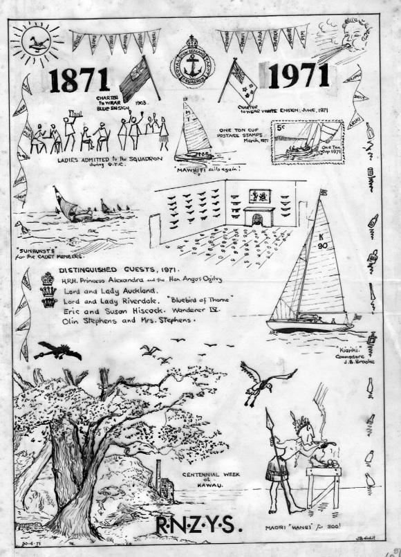 JBB RNZYS Centennial 1971