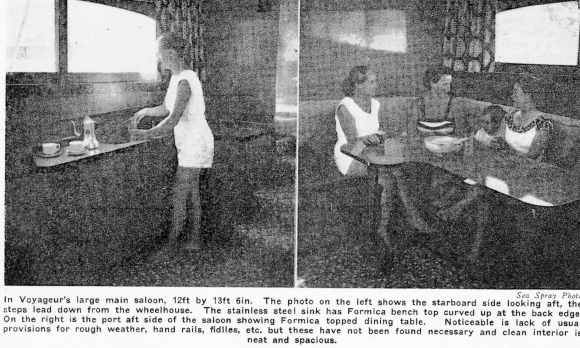 VOYAGEUR - GALLEY & DINING AREA - APRIL 1959