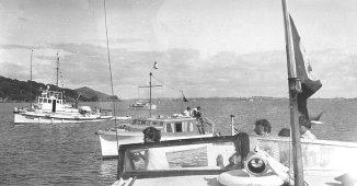At Motuihe Is., early 1950s. (Mona's Isle,Faye,Hukarere)
