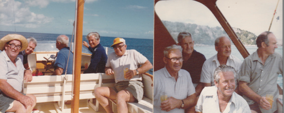 March 1976 - left photo- Roley Gillett,Stuart Orr,Lex Aitman,Frank Orr,Eric Orr