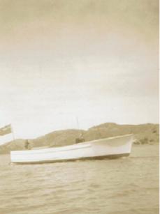 MAHARATIA NEW HULL TOWED KAWAU TO AUCKLAND c1946-7