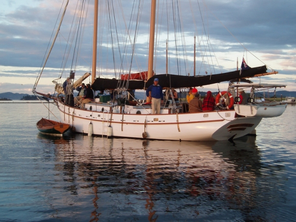 Grail Dancer, launched at Thetis Island in 2000 to a design from 1866.