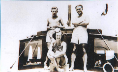 Jan 1938 Cruise. Ken,Irene,Sam