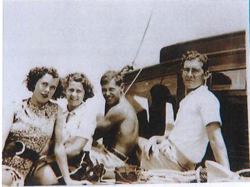Christmas 1937. Muriel,Dulcie,Ken,Bob
