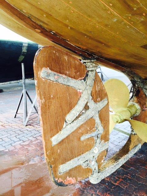 rudder electrochemical damage