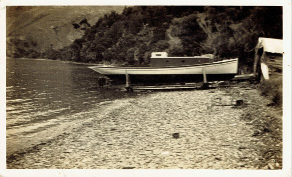 Wainui on Slipway 1931 Photo sent by Arthur to Cora after purchase30102015