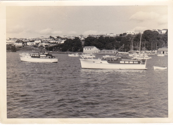 AWATERE - R.H.S. -  & ALTAIR L.H.S. at OKAHU BAY c1950s
