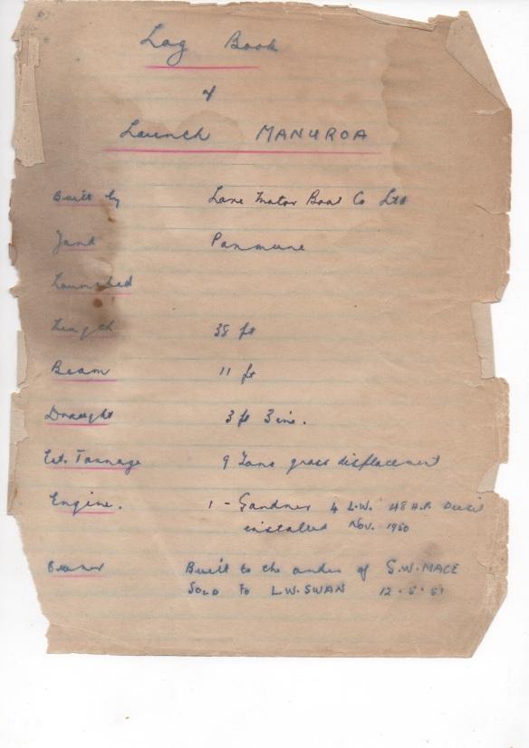 MANUROA  Log 1951