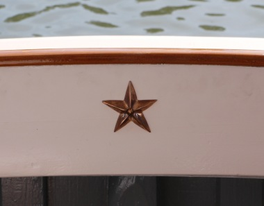 My little launching gift - a bronze good fortune star from Arthur Beale, London.