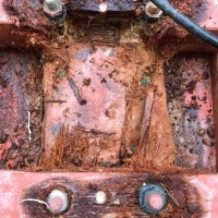Want to see what electrolysis does to a wooden boat?