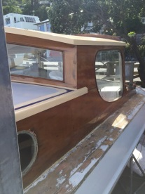 The work begins- new swamp Kauri window trims