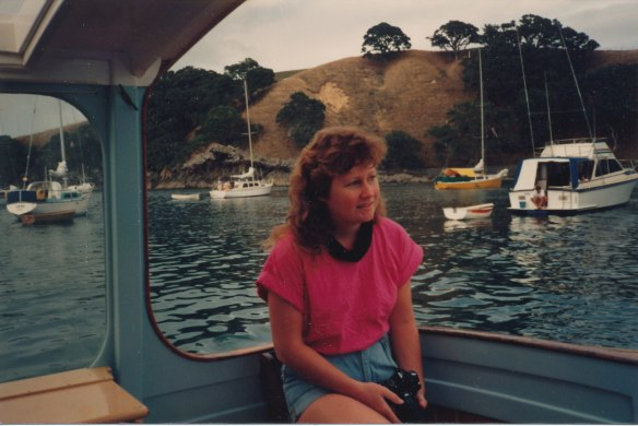 Elaine aboard Mataroa