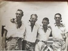 Eric (TUT), Aruther (ARTY), Bob (Skipper), Colin (Totsy) - Whangarei 1938/39