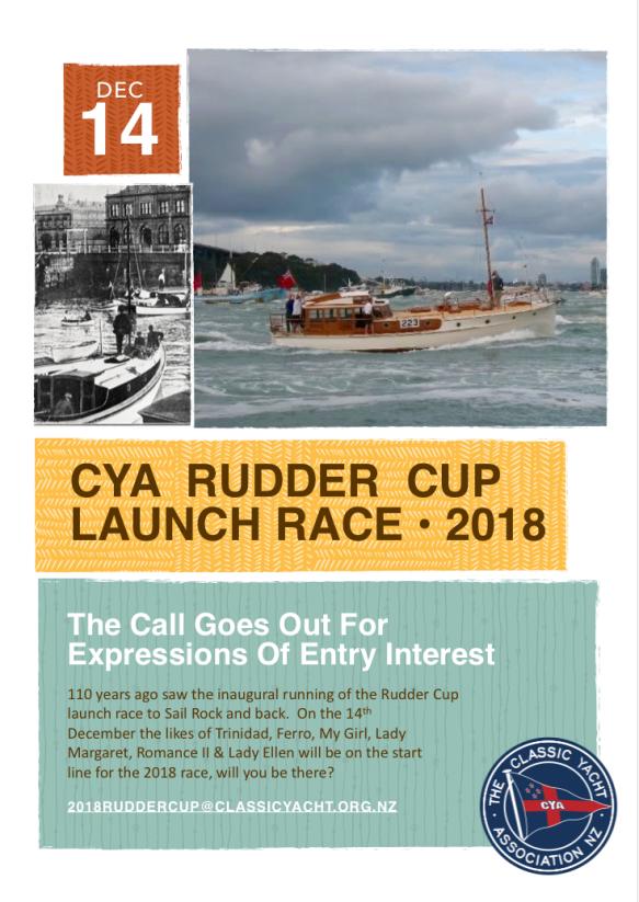 CYA Rudder Cup 2018 flyer