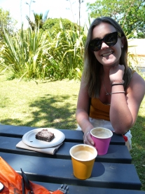 Best coffee & brownie on the Island = Rocky Bay Hall