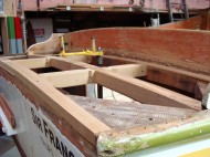 Re building the stern deck