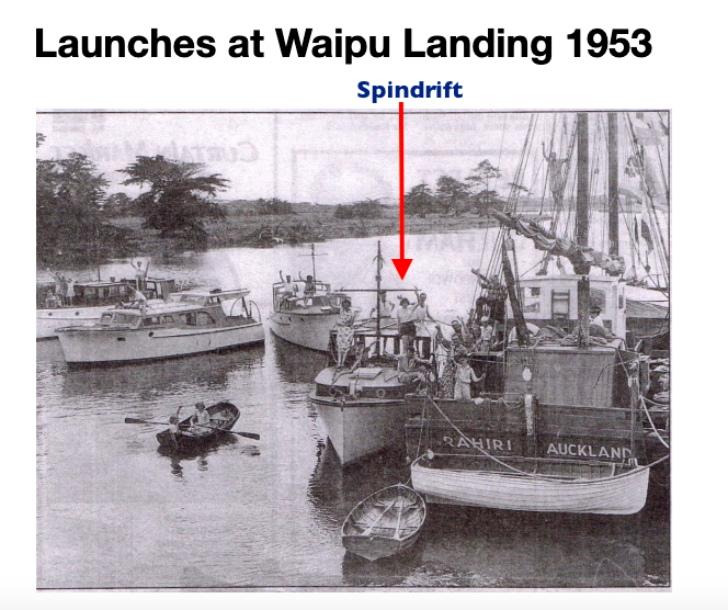 Spindrift 1953 Waipu Landing
